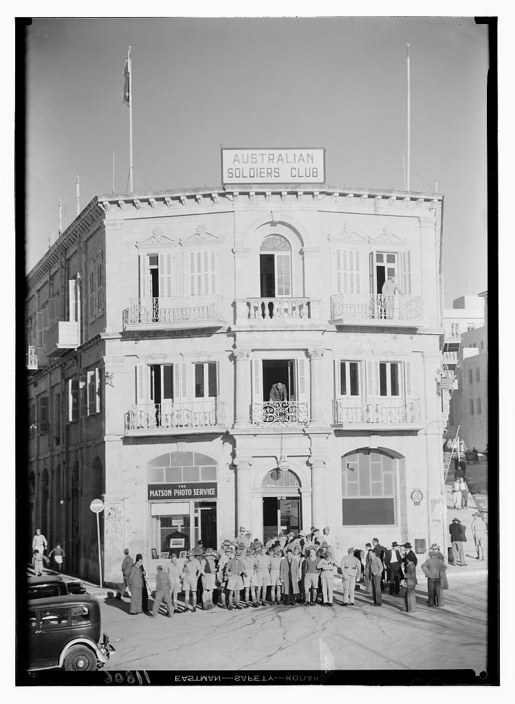 Australian Club, (old Fast Hotel, Jer. [i.e., Jerusalem]), Oct. 10 [19]40