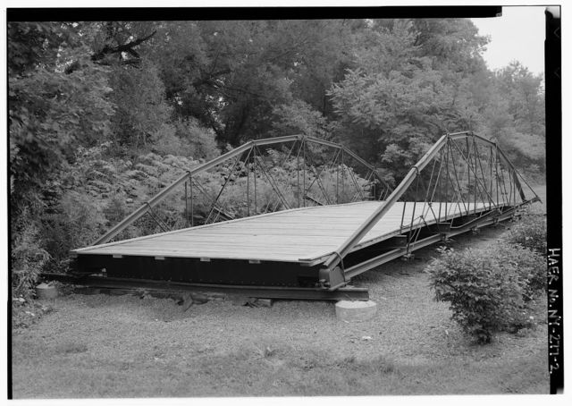 Avery-Bartholomew Patent Railroad Iron Bridge, Town park south of Route 222, west of Owasco Inlet (moved from Elm Street Extension spanning Fall Creek, Nubia, NY), Groton, Tompkins County, NY