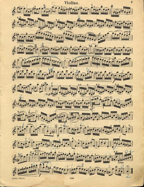 Bach, Johann Sebastian. Concerto for Violin and String Orchestra, BWV 1041, A minor