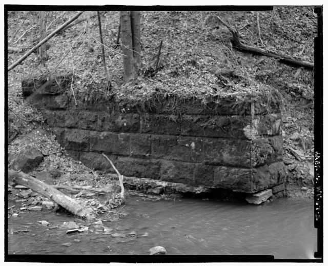 Back Run Bridge (Ruin), Approximately 2,000 feet (610 meters) upstream & south of confluence of Third Run & Back Run, Harrisville, Ritchie County, WV