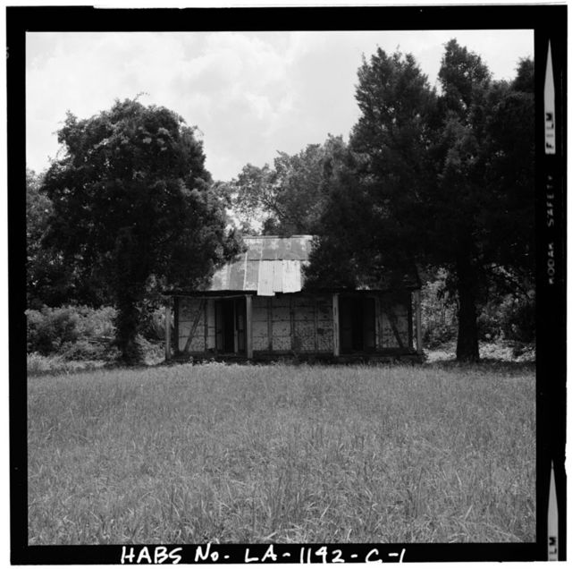 Bagatelle Plantation, South Slave Cabin, East River Road (moved to Iberville Parish), Donaldsonville, Ascension Parish, LA