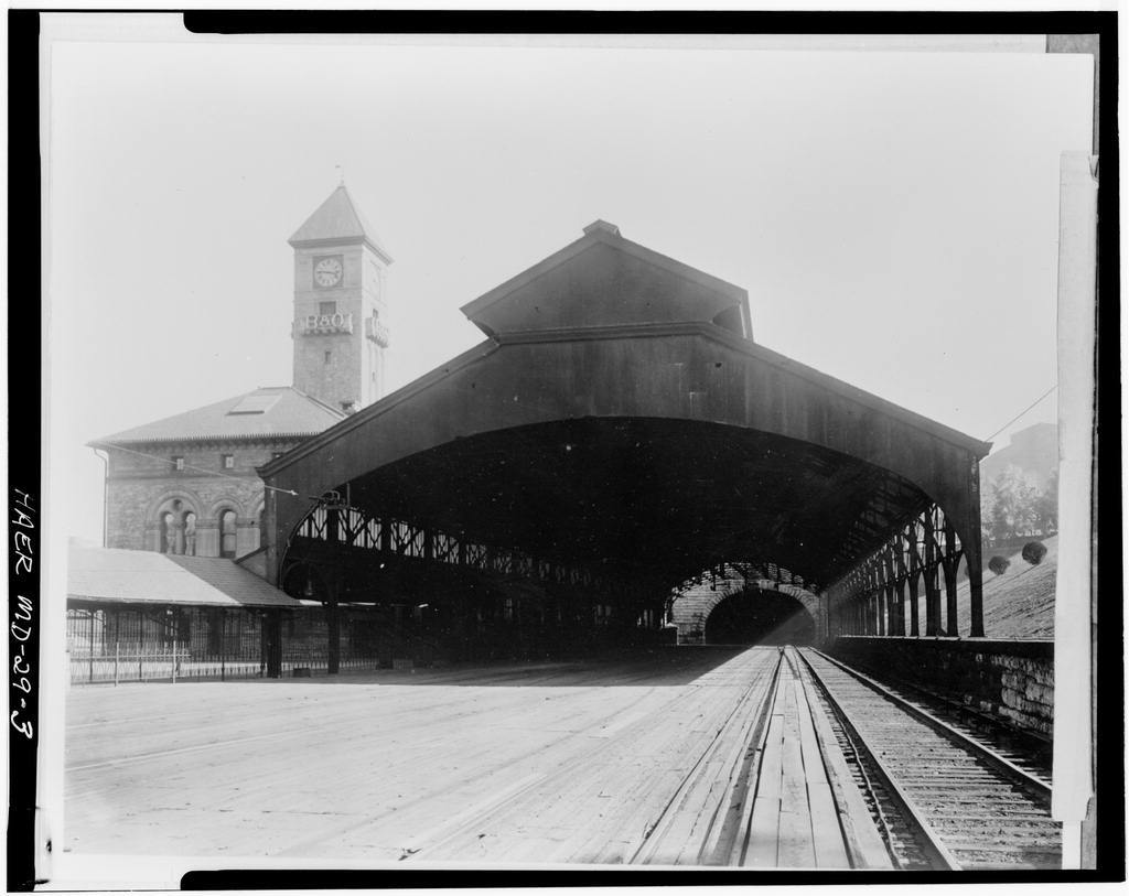 Baltimore & Ohio Railroad, Mount Royal Trainshed, 1400 Cathedral Street, Baltimore, Independent City, MD