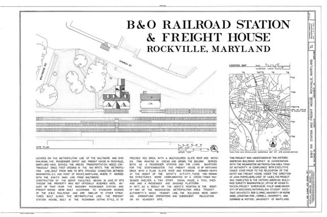 Baltimore & Ohio Railroad, Station & Freight House, 98 Baltimore Road, Rockville, Montgomery County, MD