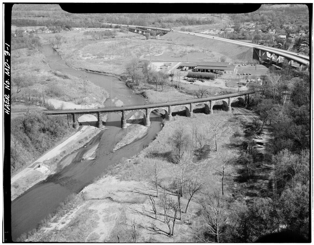 Baltimore & Ohio Railroad, Thomas Viaduct, Spanning Patapsco River, Elkridge, Howard County, MD