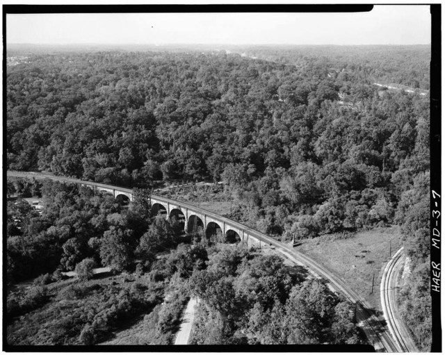 Baltimore & Ohio Railroad, Thomas Viaduct, Spanning Patapsco River, Elkridge, Howard County, MD