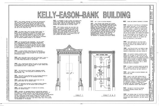 Bank of Fayetteville, 100 West Center Street, Fayetteville, Washington County, AR