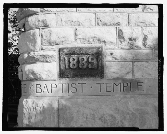 Baptist Temple, North Broad Street between Montgomery Avenue & Norris Street, Temple University, Philadelphia, Philadelphia County, PA