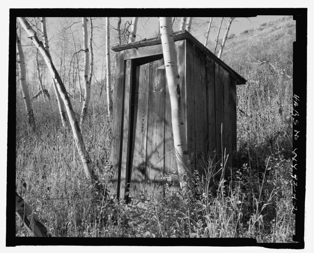 Bar B C Ranch, Outhouse, Adjacent to Building No. 1397, Moose, Teton County, WY