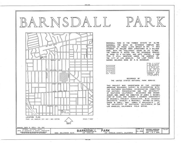 Barnsdall Park, 4800 Hollywood Boulevard, Los Angeles, Los Angeles County, CA
