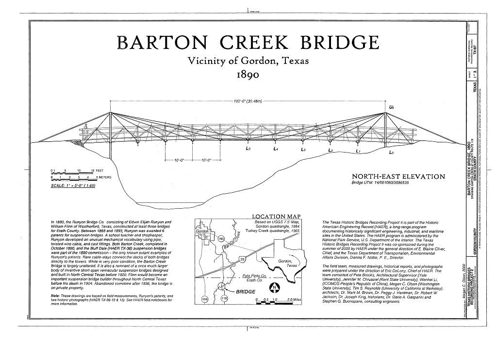 Barton Creek Bridge, Spanning Barton Creek, Huckabay, Erath County, TX