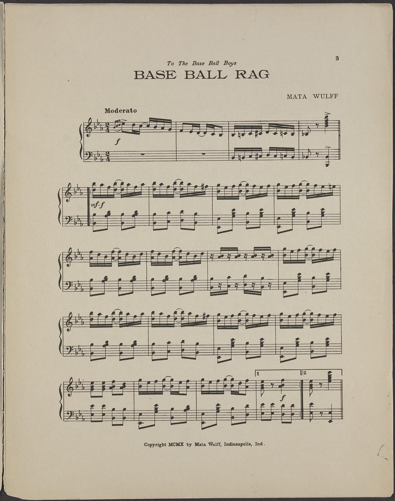 Base ball rag