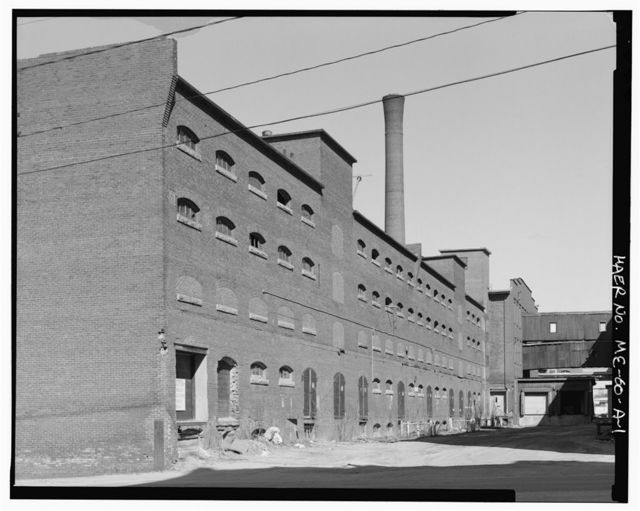 Bates Manufacturing Company, Storehouse, Northeast corner of Chestnut Street & Hines Alley, Lewiston, Androscoggin County, ME