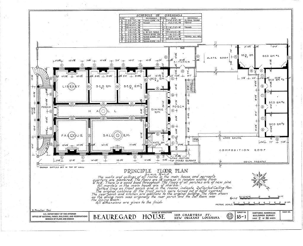Beauregard House, 1113 Chartres Street, New Orleans, Orleans Parish, LA