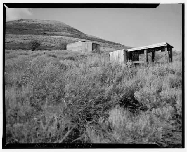 Bell Family Residence, Chicken Coop & Garage, East slope of Buckskin Mountain, Paradise Valley, Humboldt County, NV