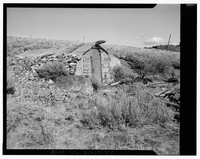 Bell Family Residence, Dugout, East slope of Buckskin Mountain, Paradise Valley, Humboldt County, NV