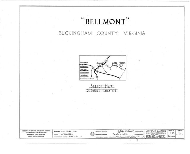 Bellmont, State Route 667 vicinity, Dillwyn, Buckingham County, VA