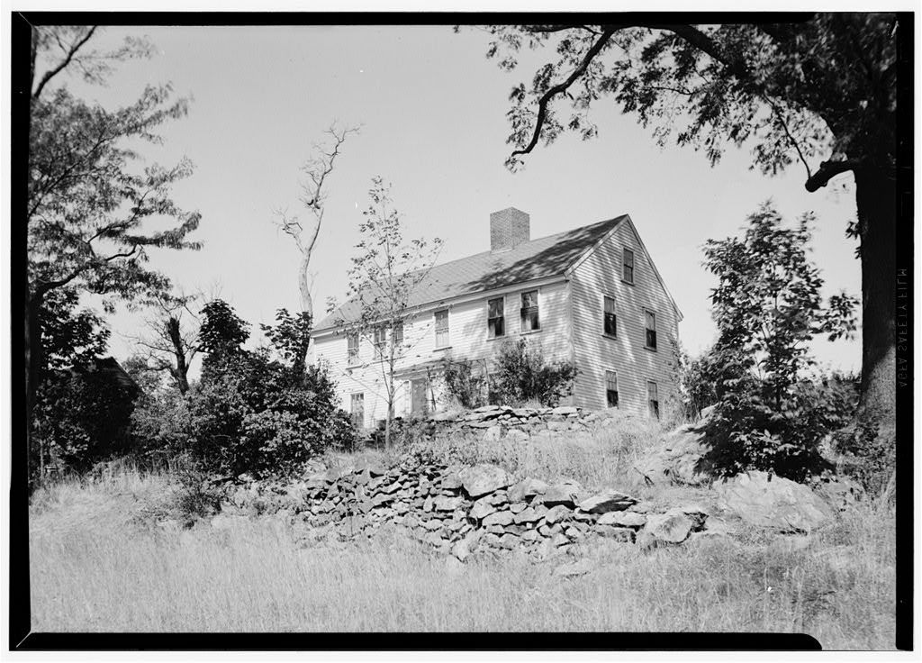 """Benjamin Arnold House, Entrance """"A"""" Road to Lincoln Woods Reservation, Saylesville, Kent County, RI"""