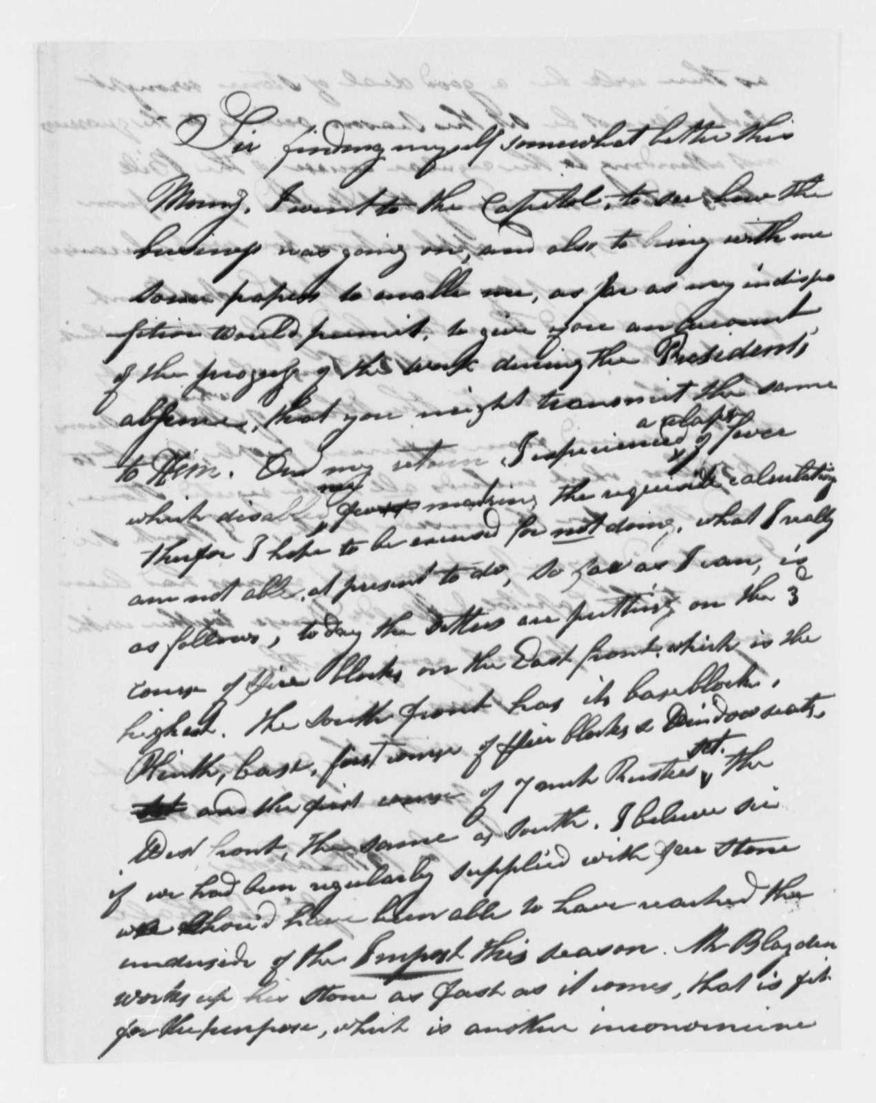 Benjamin H. Latrobe and John Lenthall to Thomas Jefferson, no date