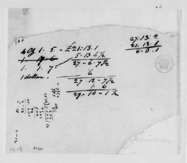 Benjamin H. Latrobe, no date, Notes on Building Costs