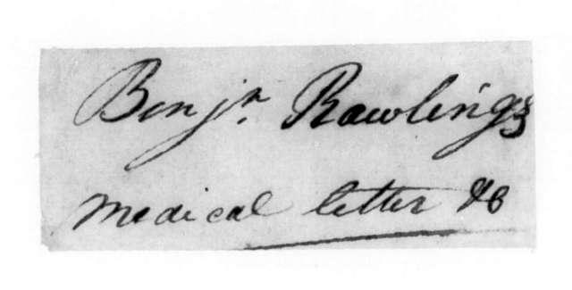 Benjamin Rawlings to Andrew Jackson