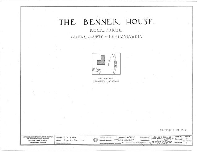 Benner House, Bellefonte, Centre County, PA