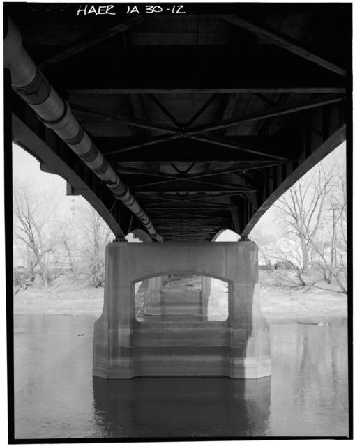 Benton Street Bridge, Spanning Iowa River at Benton Street, Iowa City, Johnson County, IA