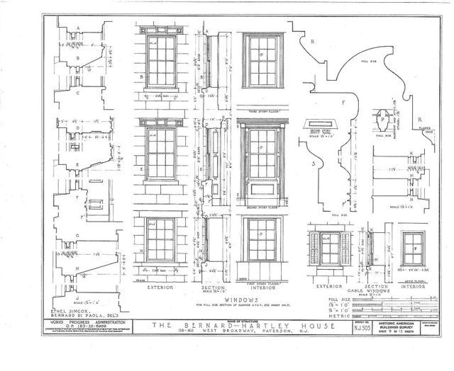 Bernard Hartley House, 158-160 West Broadway, Paterson, Passaic County, NJ