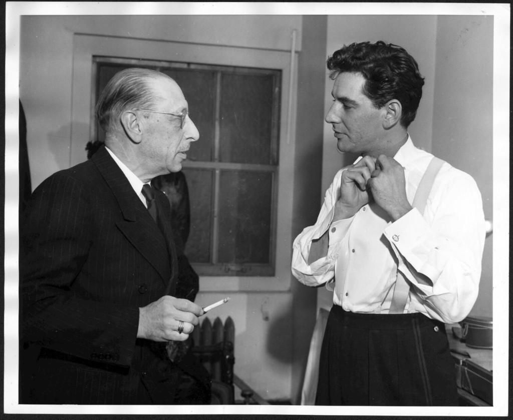 Bernstein With Composer Igor Stravinsky 1946 Photographer Ben