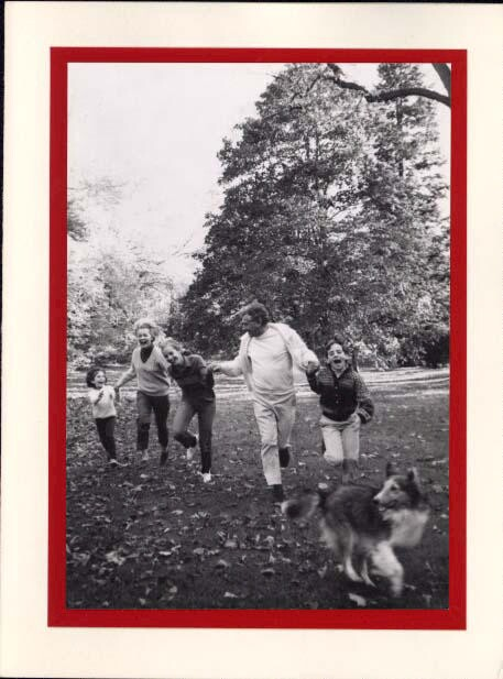 Bernstein with Felicia, Alexander, Jamie, and Nina. Photographer unidentified. (Music Division)