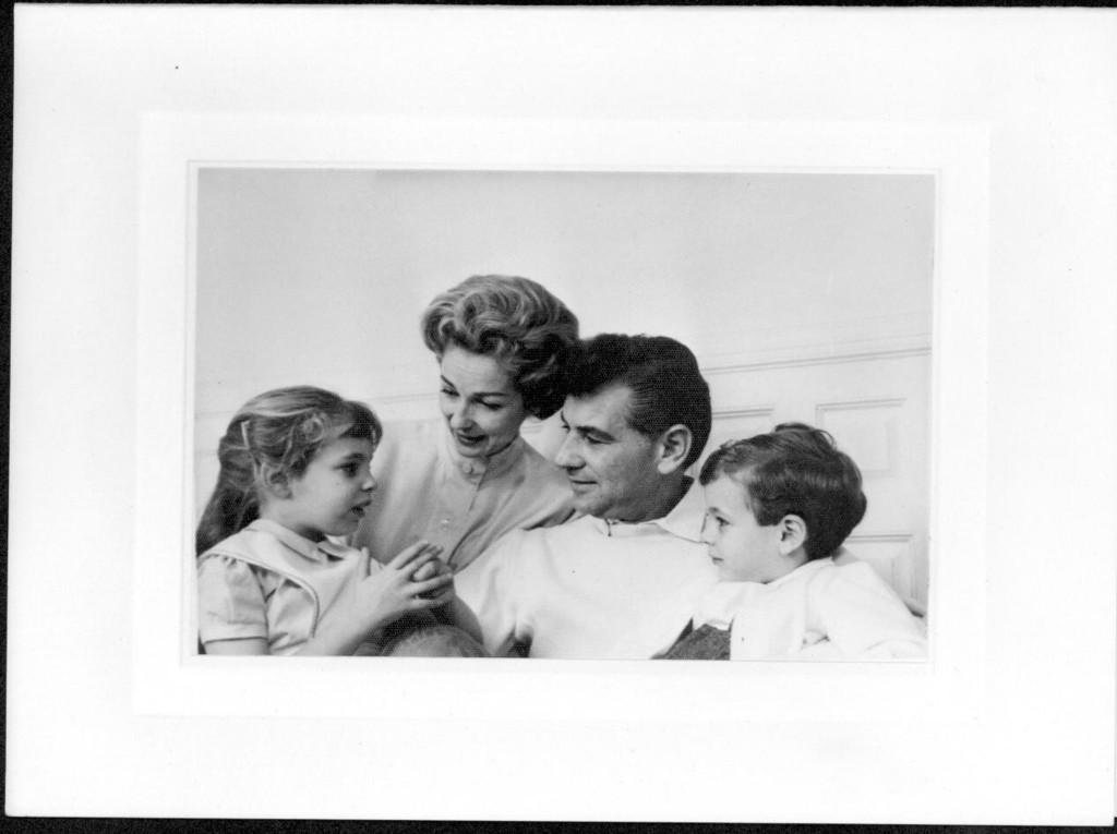 Bernstein with Felicia, Jamie and Alexander. Photographer unidentified. (Music Division)