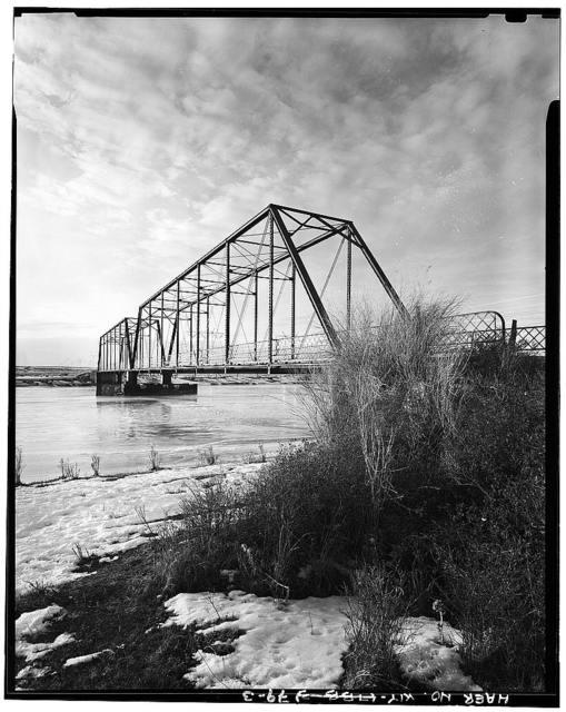 Big Island Bridge, Spanning Green River on County Road No. 4, Green River, Sweetwater County, WY