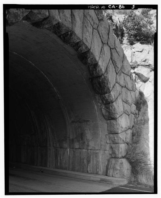 Big Oak Flat Road Tunnel No. 1, Through mountain spur on New Big Oak Flat Road, Yosemite Village, Mariposa County, CA