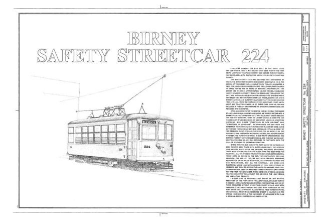 Birney Safety Streetcar No. 224, Fort Smith Trolley Museum, Fort Smith, Sebastian County, AR