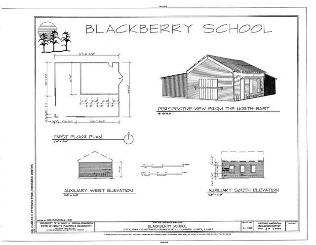 Blackberry School, 1725 North & 1700 East (country roads), Urbana, Champaign County, IL