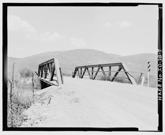 Blackfoot River Crossing Bridge, North Trail Canyon Road, approximately 12 miles northeast of Soda Springs, Soda Springs, Caribou County, ID
