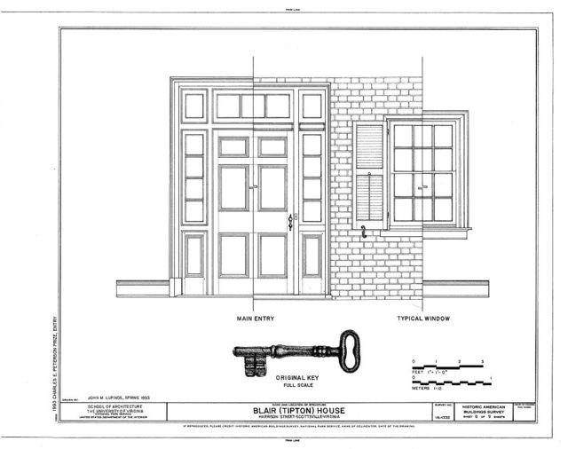 Blair House, Harrison Street, Scottsville, Albemarle County, VA