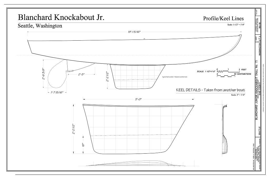 Blanchard Junior Knockabout, Hull No. 7, The Center for Wooden Boats, Seattle, King County, WA