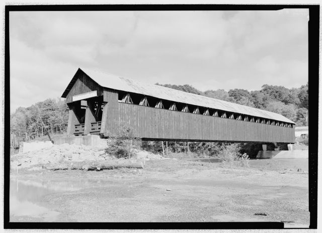 Blenheim Bridge, Spanning Schoharie Creek, River Road (now bypassed), North Blenheim, Schoharie County, NY