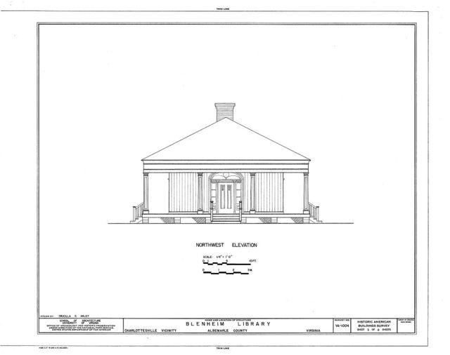 Blenheim Library, State Route 727, Charlottesville, Charlottesville, VA
