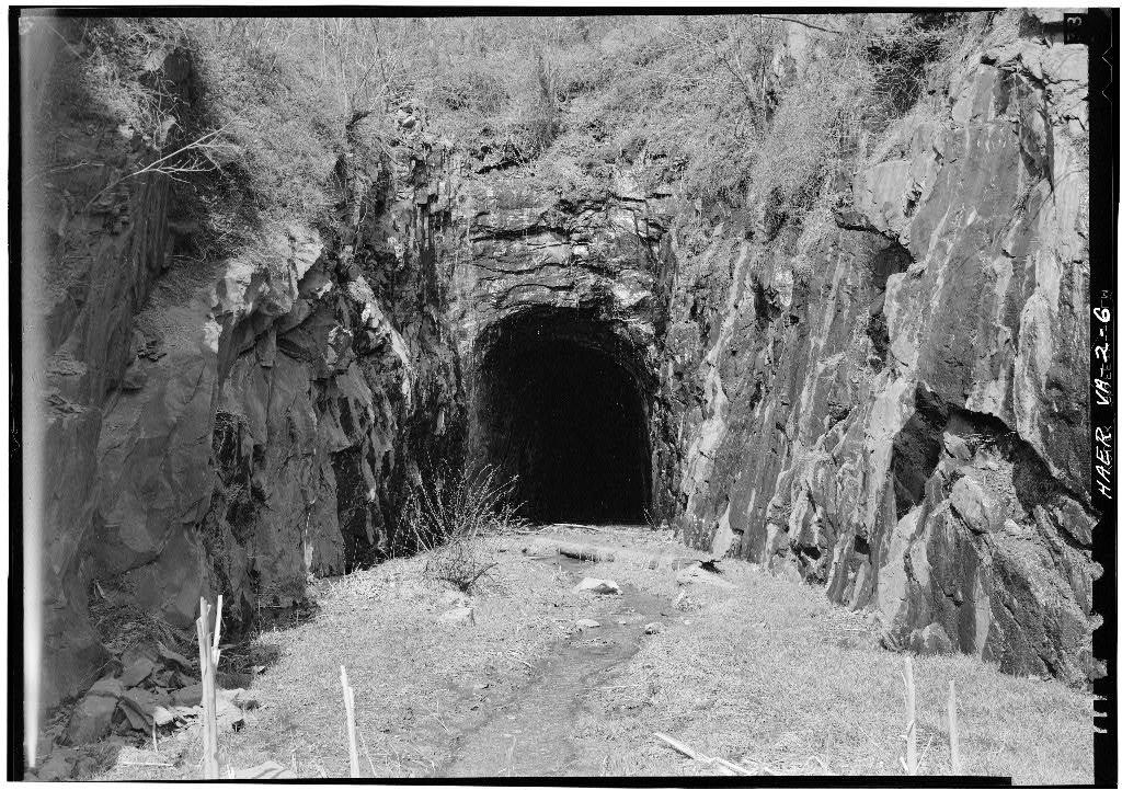 Blue Ridge Railroad, Blue Ridge Tunnel, U.S. Route 250 at Rockfish Gap, Afton, Nelson County, VA