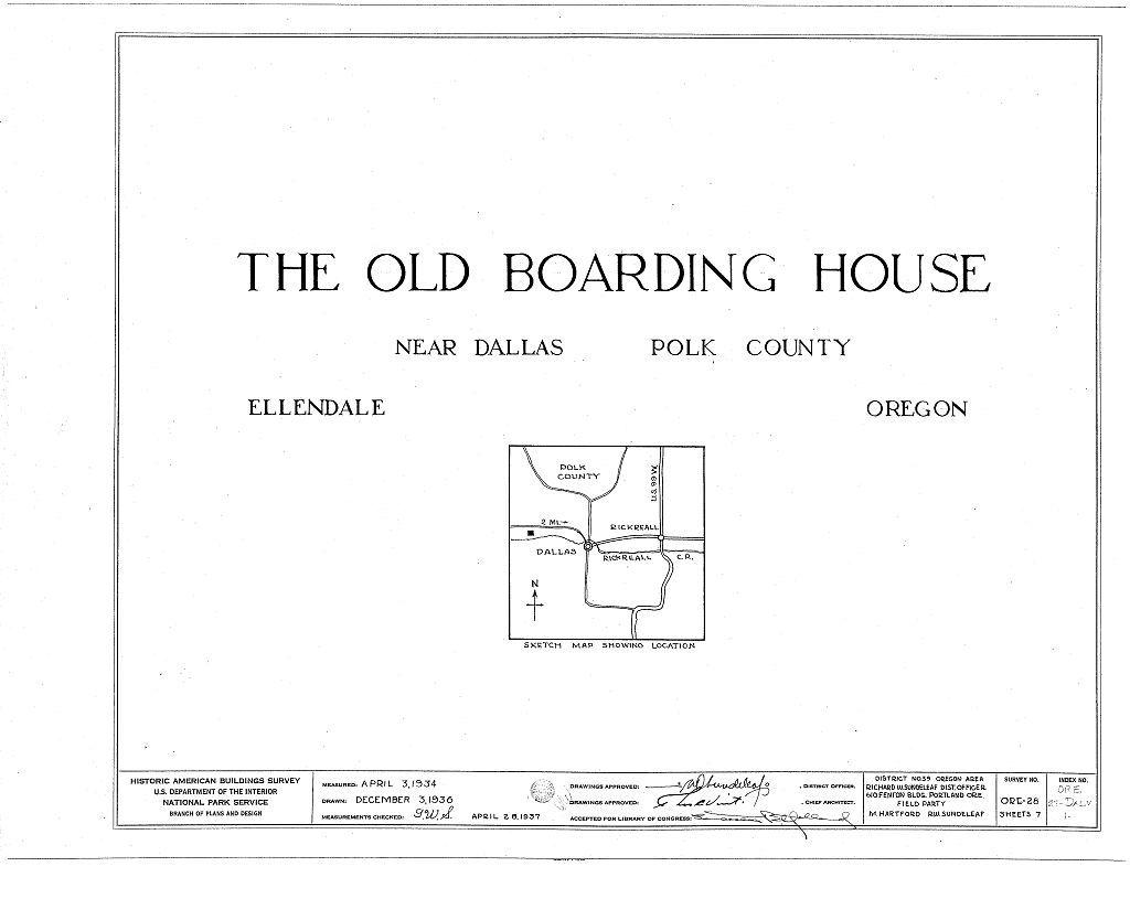 Boarding House, Ellendale, Polk County, OR