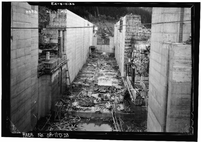 Bonneville Project, Navigation Lock No. 1, Oregon shore of Columbia River near first Powerhouse, Bonneville, Multnomah County, OR