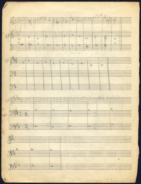 [ Book of Sylvia Fine's music and homework from Brooklyn College]