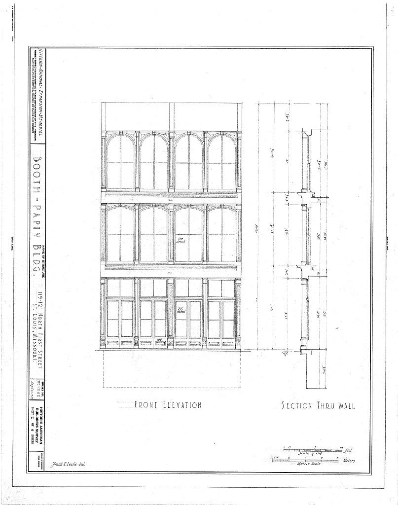Booth-Papin Building, 119-121 North First Street, Saint Louis, Independent City, MO