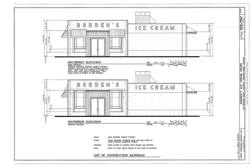 Borden's Ice Cream Store, 1103 Jefferson Street, Lafayette, Lafayette Parish, LA