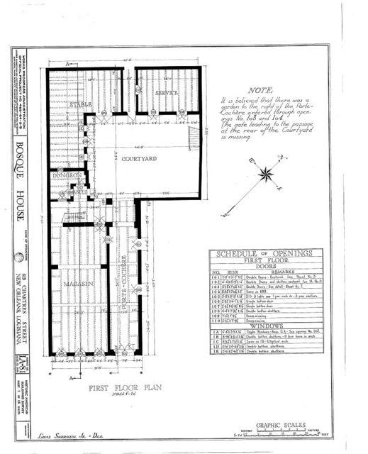 Bosque House, 617-619 Chartres Street, New Orleans, Orleans Parish, LA
