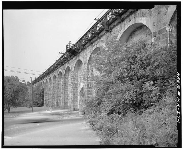 Boston & Providence Railroad, Canton Viaduct, Neponset Street at East branch of Neponset River, Canton, Norfolk County, MA