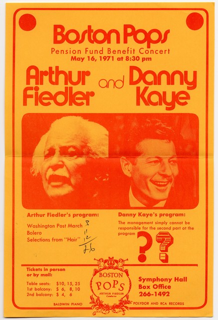 Boston Pops Pension Fund Benefit Concert, May 16, 1971