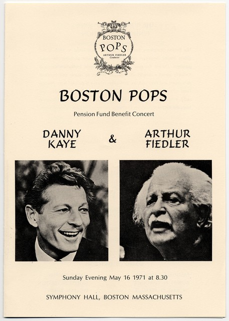 Boston Pops Pension Fund Benefit Concert, Sunday May 16, 1971