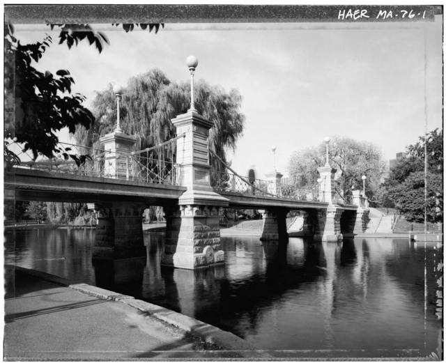 Boston Public Garden, Suspension Bridge, Boston Public Garden, Boston, Suffolk County, MA
